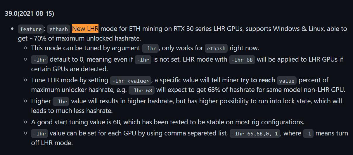 NBMiner opis patcha dla kart GeForce RTX 3000 LHR
