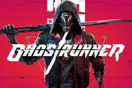 Grafika tytułowa gry Ghostrunner