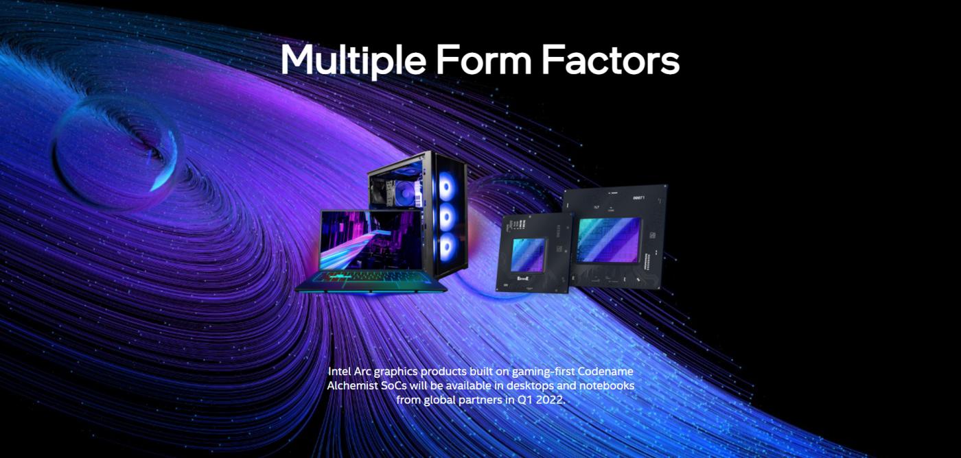 Intel Arc laptop desktop gpu