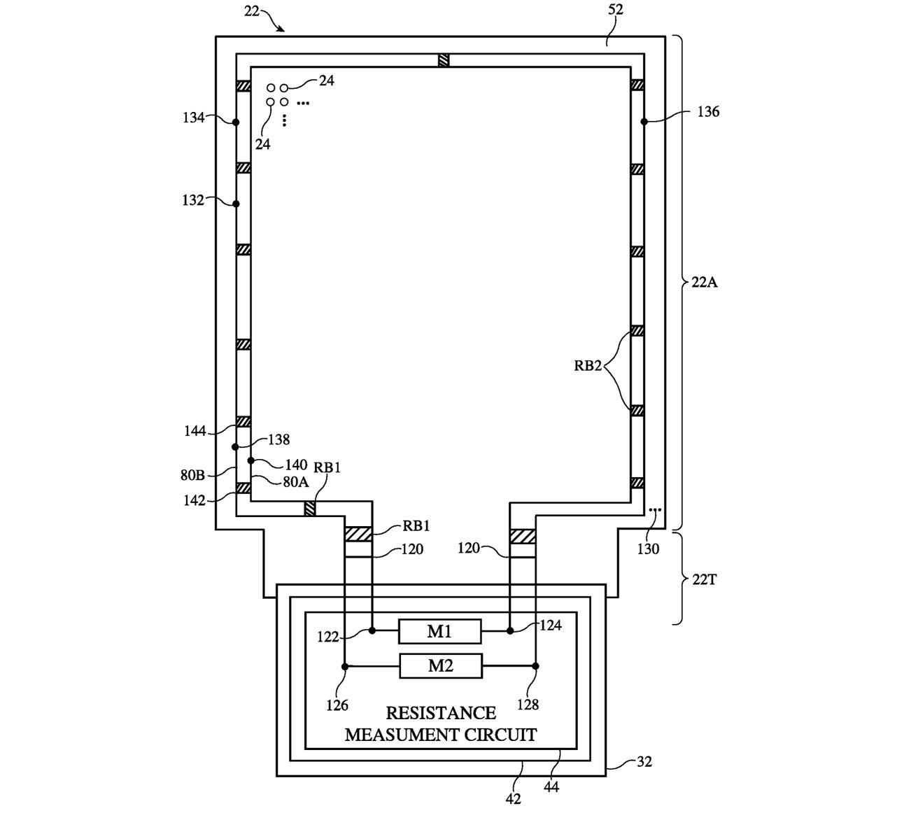 apple patent wykrywający uszkodzenia wyświetlacza screen crack detection tool