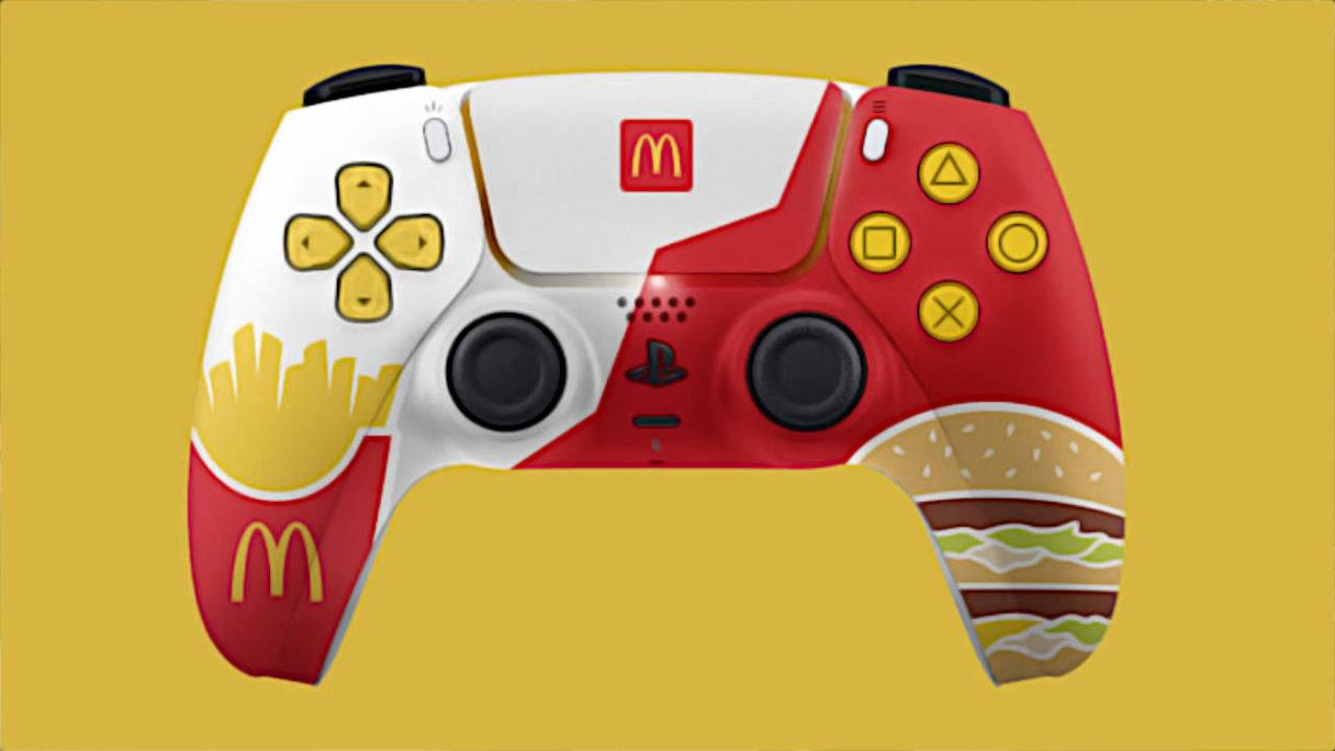 Precz z tłustymi łapskami od tego Dual Sense'a, Sony nie pozwala! (źródło: McDonald's)