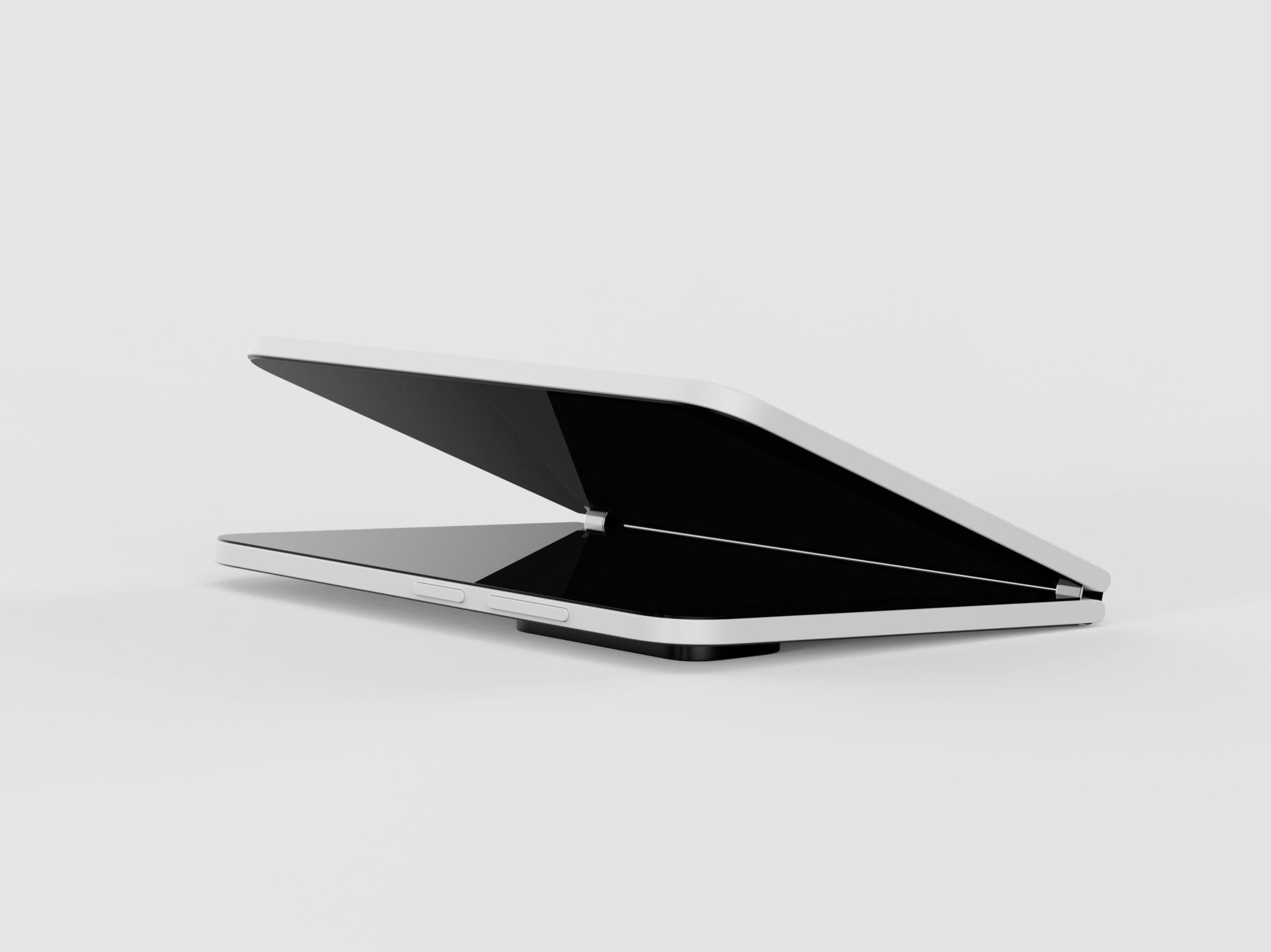 render Surface Duo 2 lekko uchylony