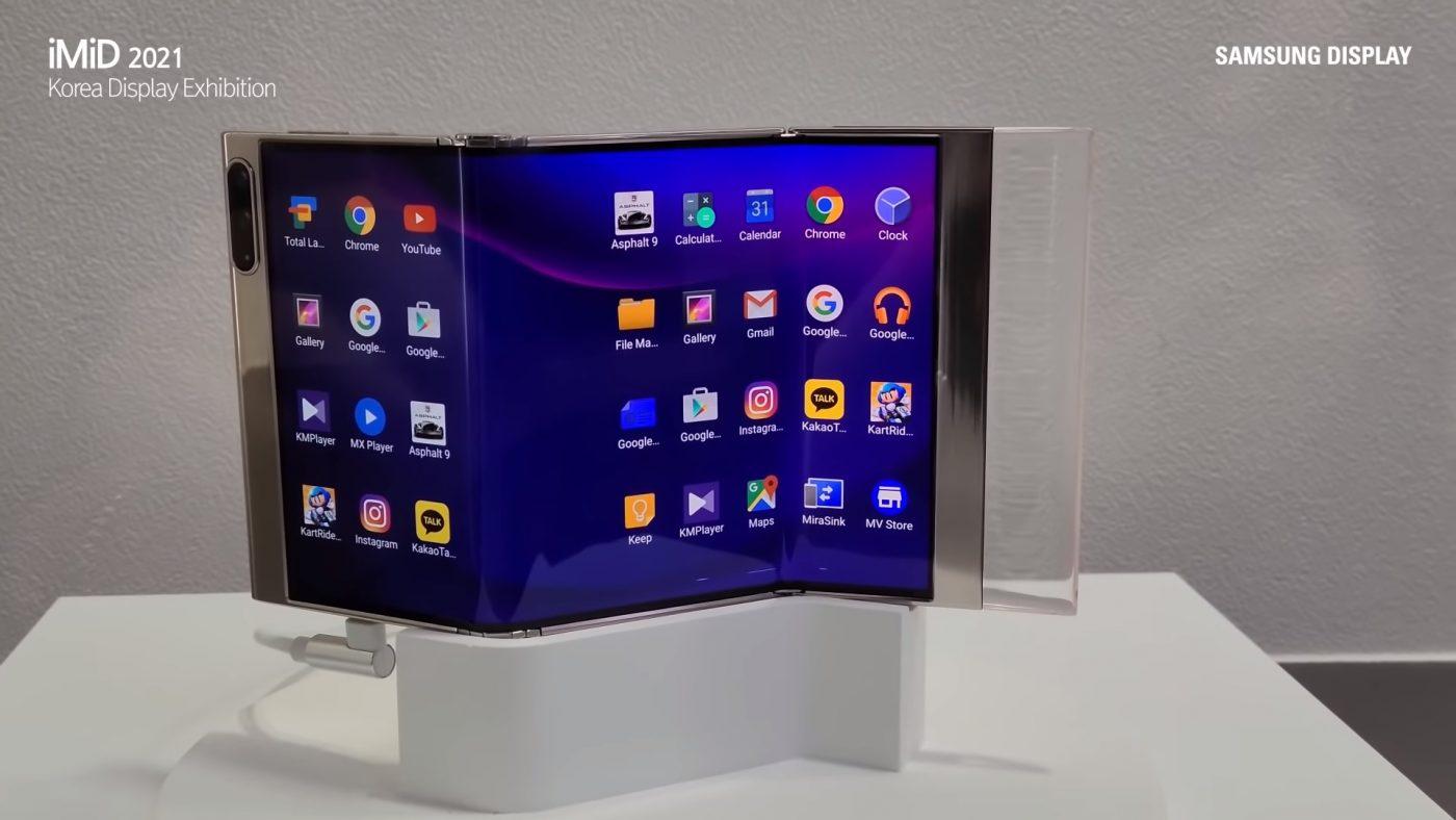 podwójnie składany smartfon Samsung Display