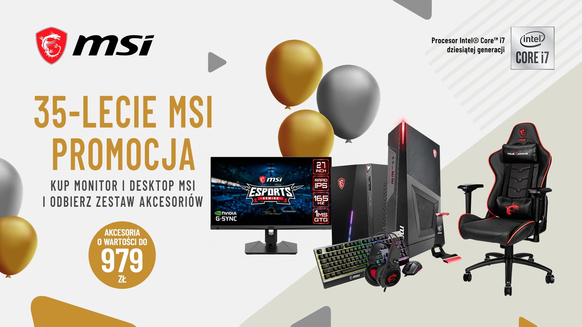 promocja na 35. urodziny marki MSI