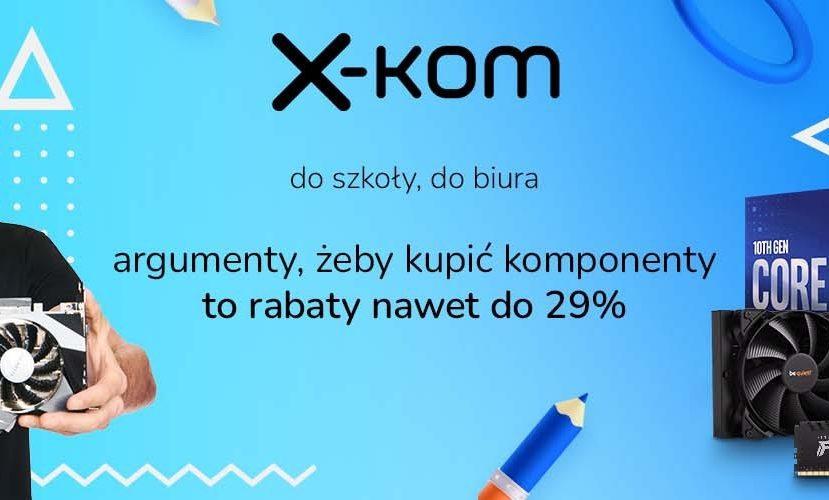 promocja x-kom back to school komponenty