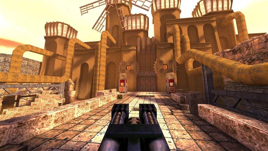 Trzeba przyznać, że nawet leciwy Quake potrafi nabrać rumieńców po drobnym liftingu (źródło: The Verge)