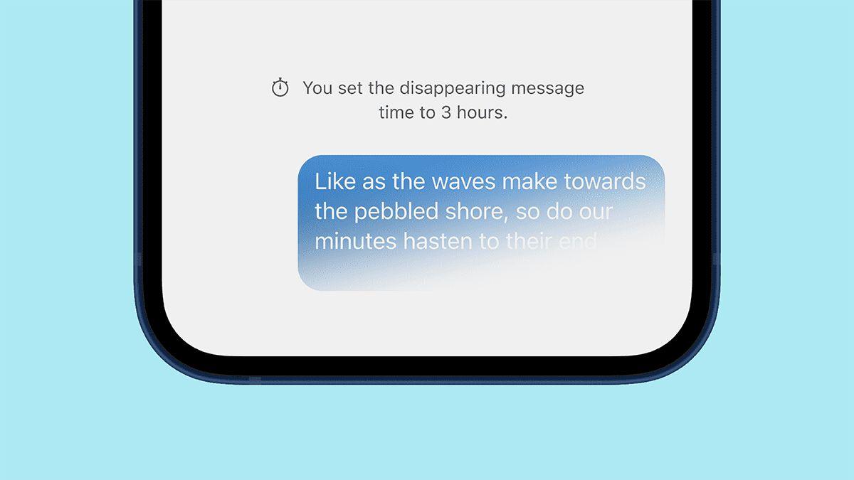 znikające konwersacje Signal dissappearing conversations