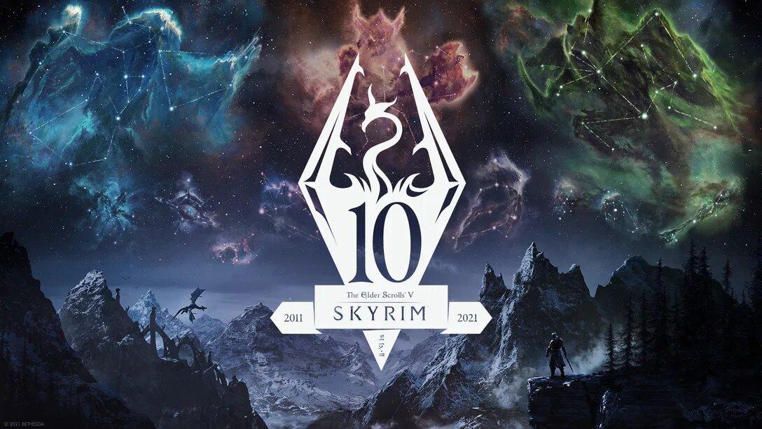 Grafika promocyjna The Elder Scrolls V: Skyrim Anniversary Edition (źródło: PlayStation Blog)