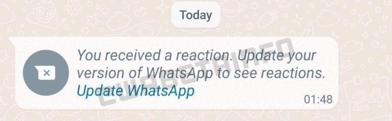 WhatsApp reakcje