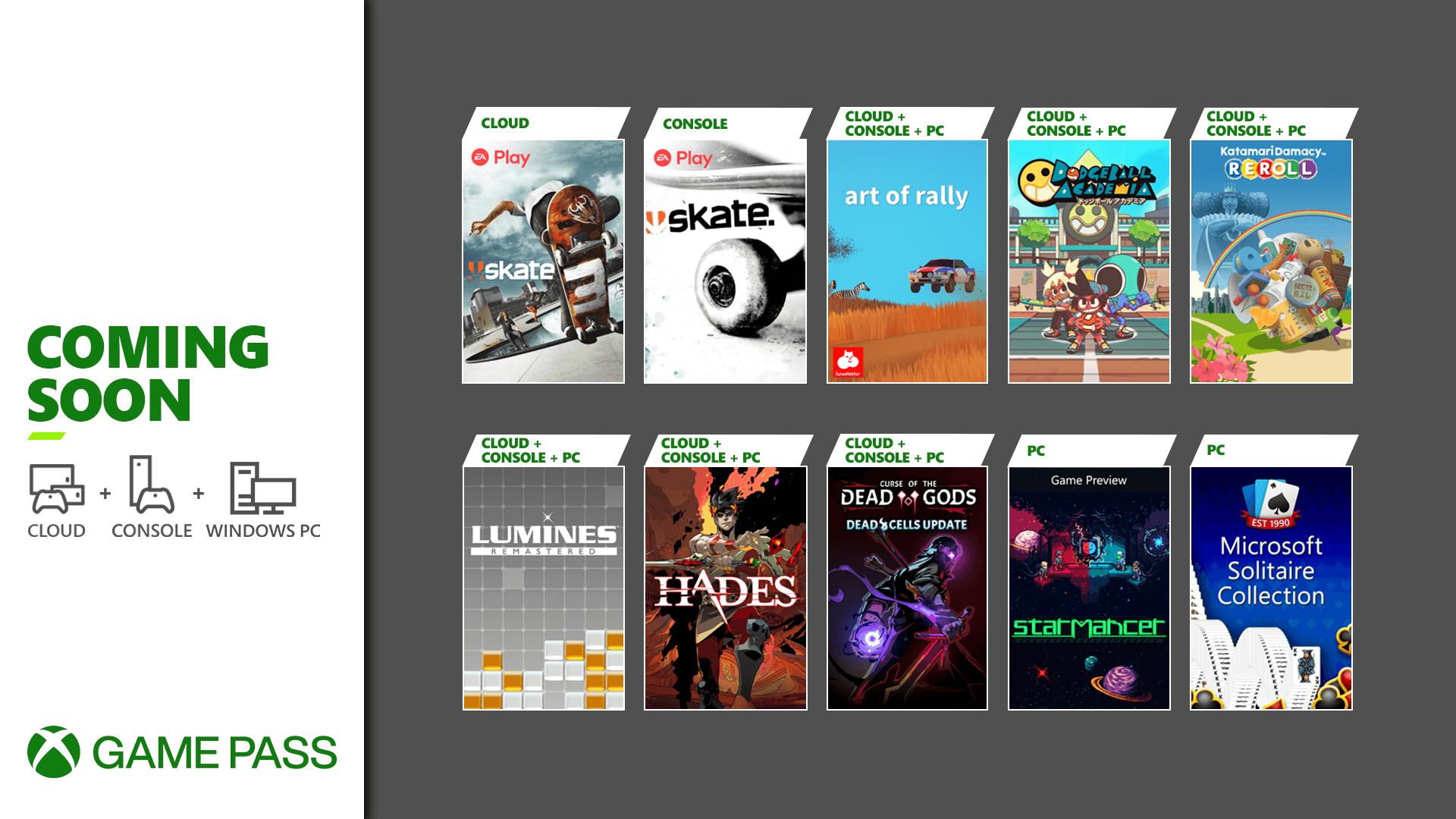 Xbox Game Pass oraz EA Play z ogromną liczbą nowości w sierpniu