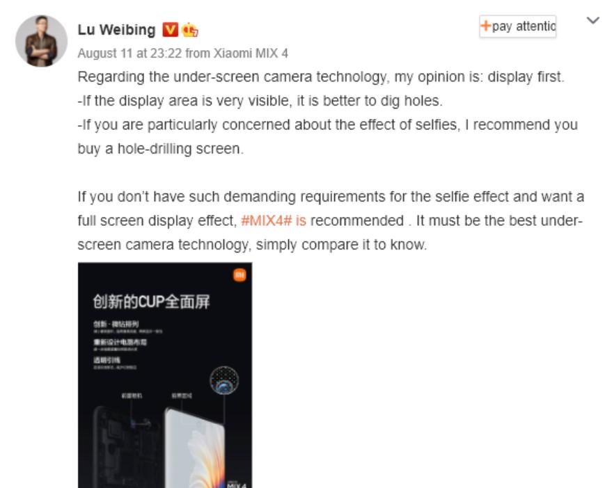 Xiaomi - Mix 4 - wypowiedź VP marki - fot. Gizmochina