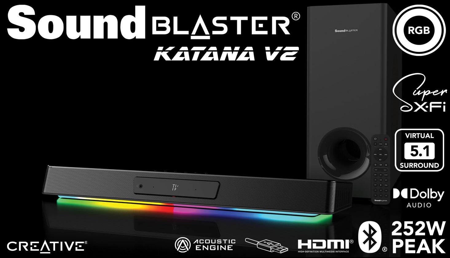 soundbar Creative Sound Blaster KATANA V2