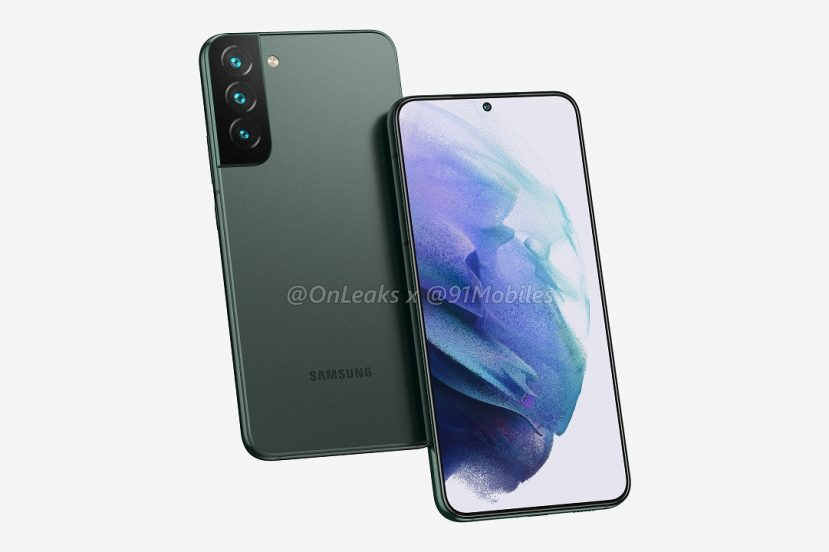 Samsung Galaxy S22+ rendery