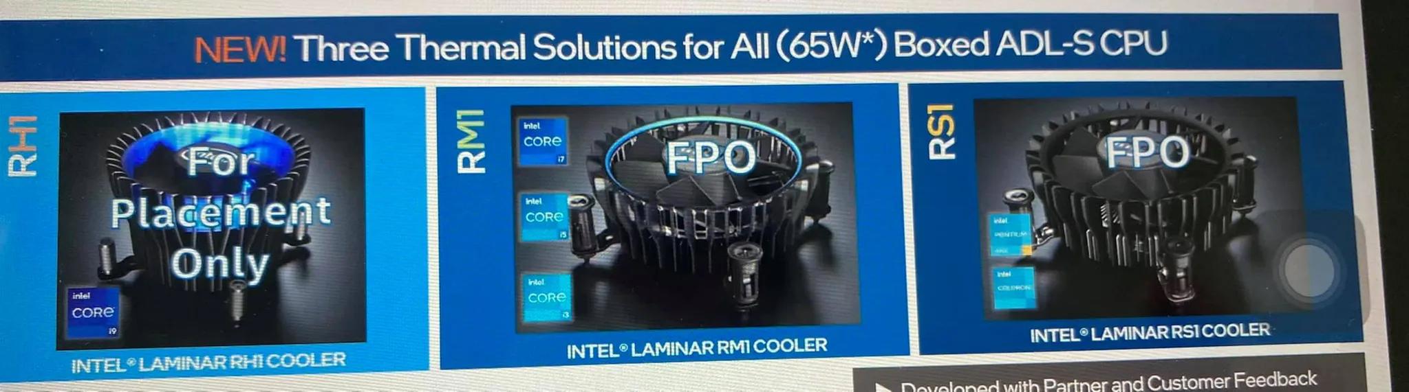 chłodzenia Intel Laminar Alder Lake