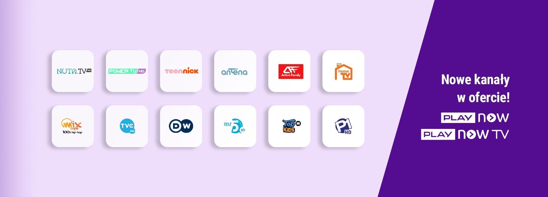PLAY NOW TV nowe kanały programy lista