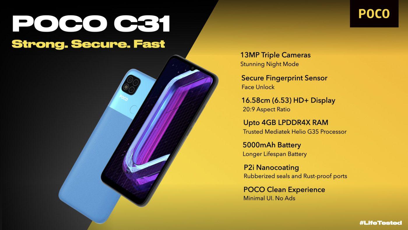smartfon POCO C31 smartphone