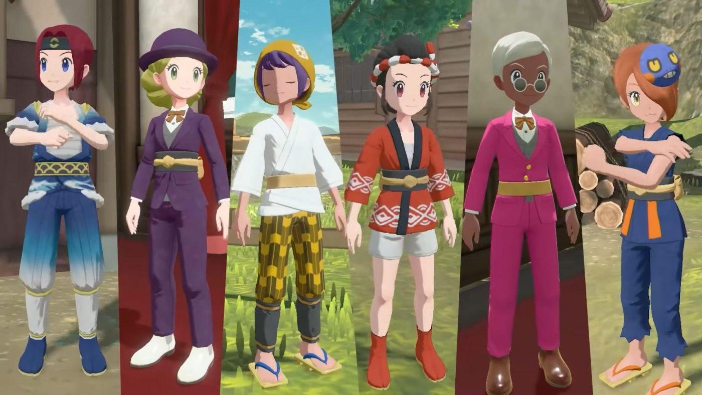 Pokemon legends arceus - kostiumy