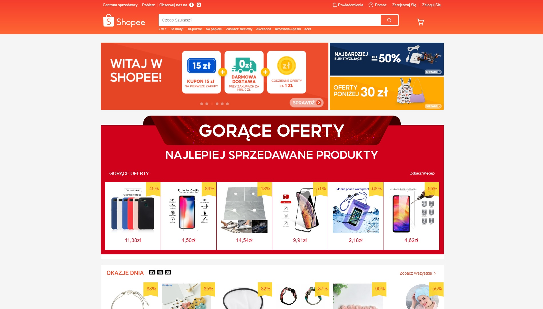 Shopee.pl strona główna