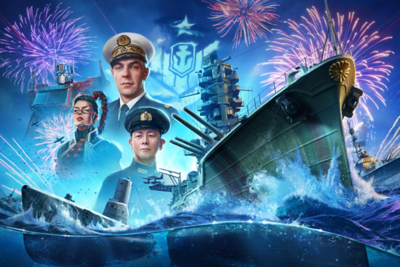 Grafika promująca urodziny World of Warships