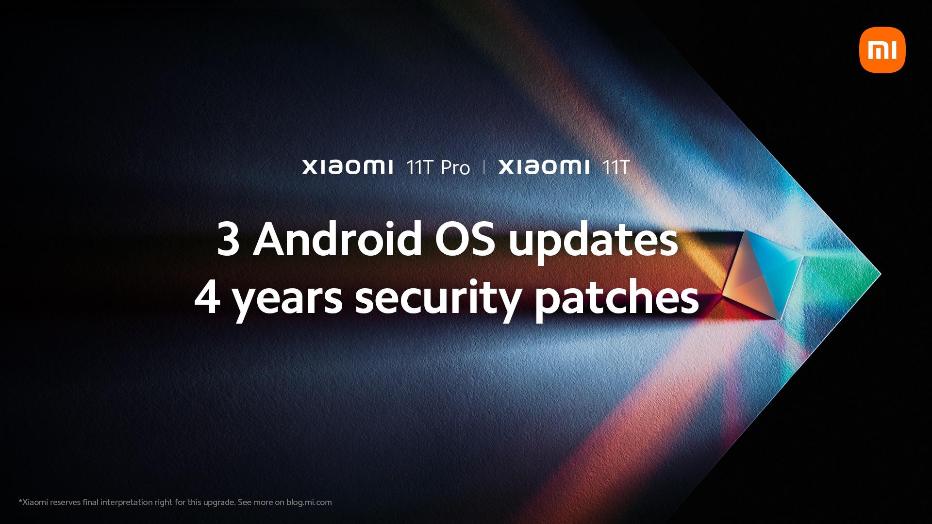 Xiaomi 11T Pro aktualizacje do czterech lat