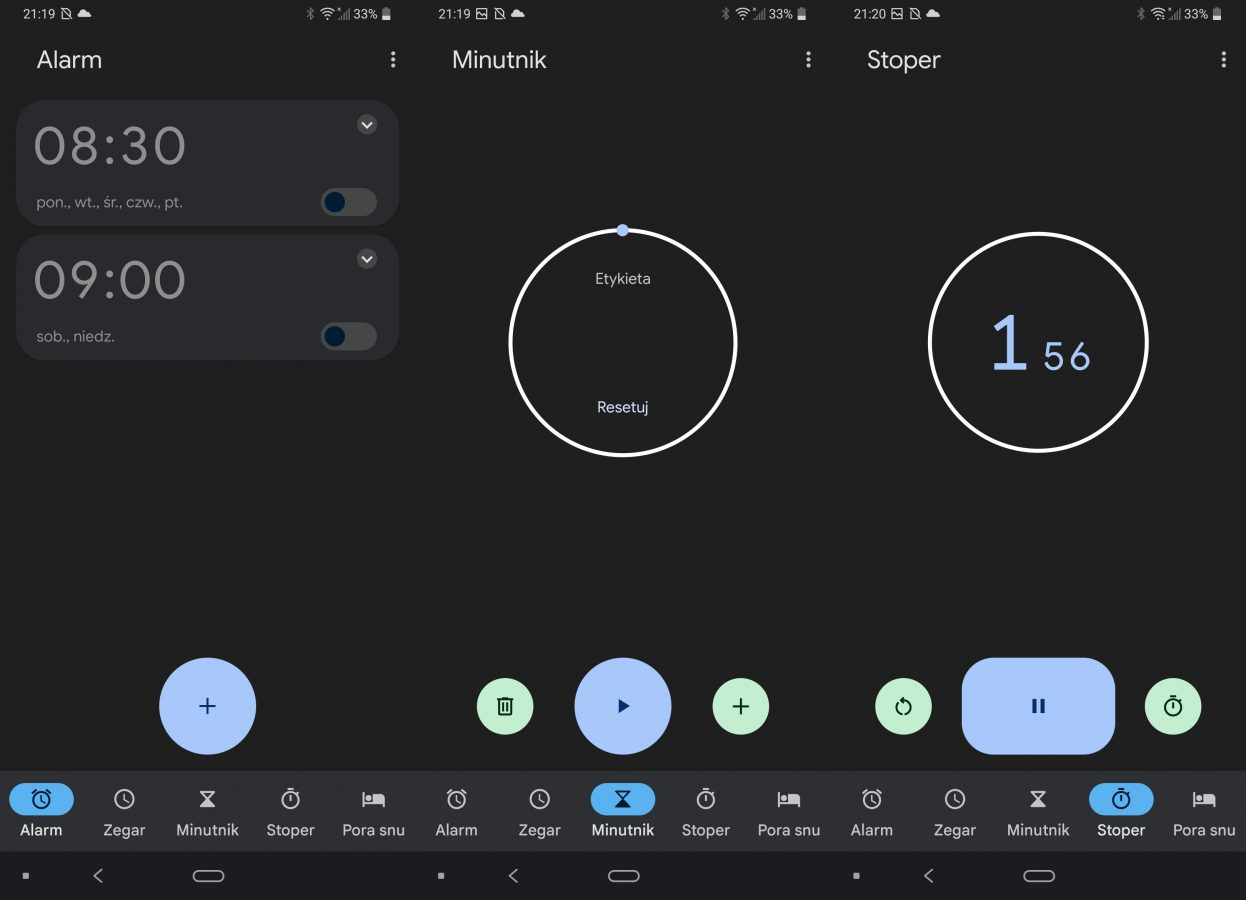 aplikacja zegar android 12