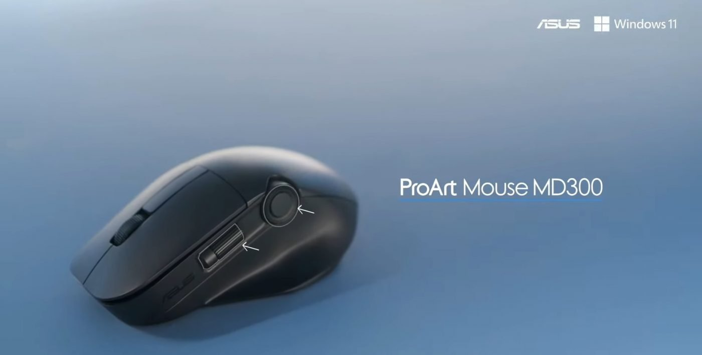asus create the uncreated proart mouse md300