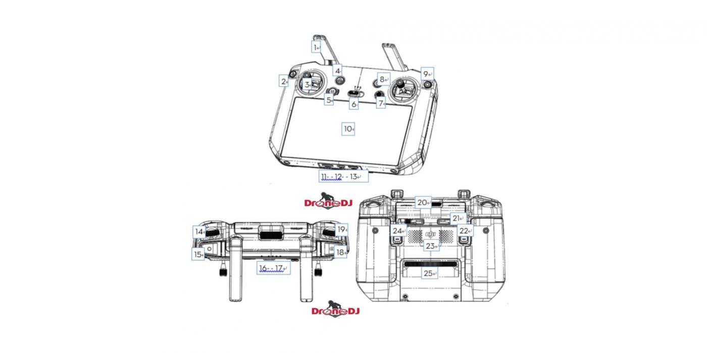 kontroler dji mavic 3 pro smart controller v2