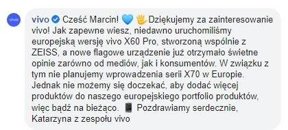 dostępność Vivo X70 Pro w Europie