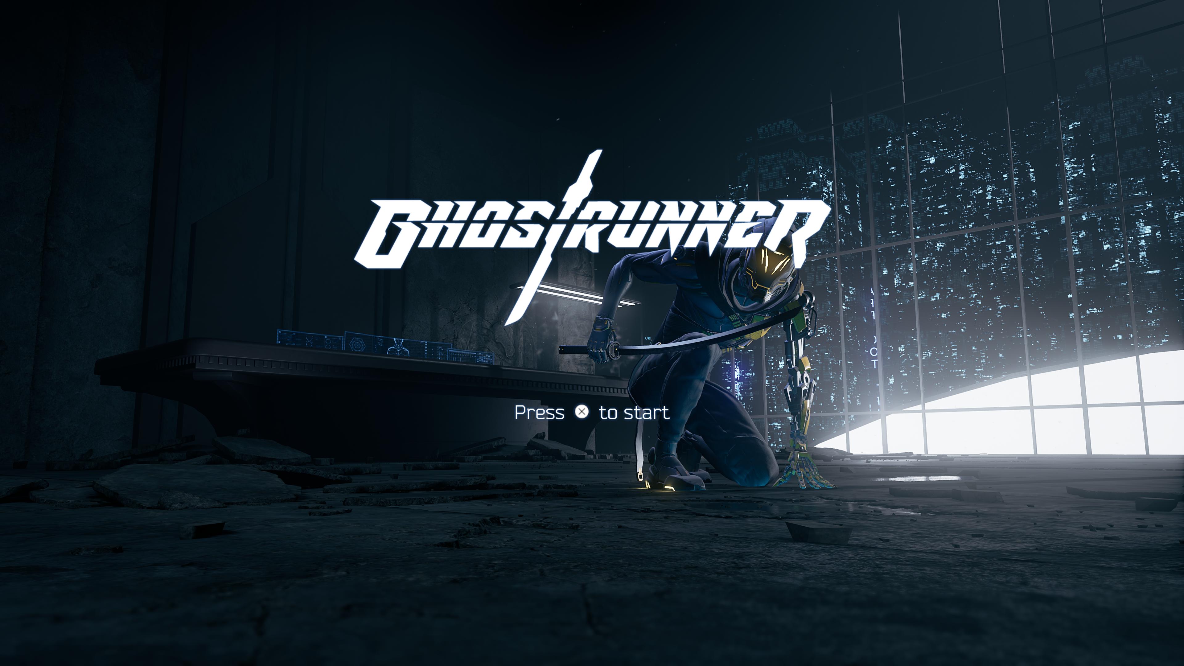 Ghostrunner - ekran tytułowy