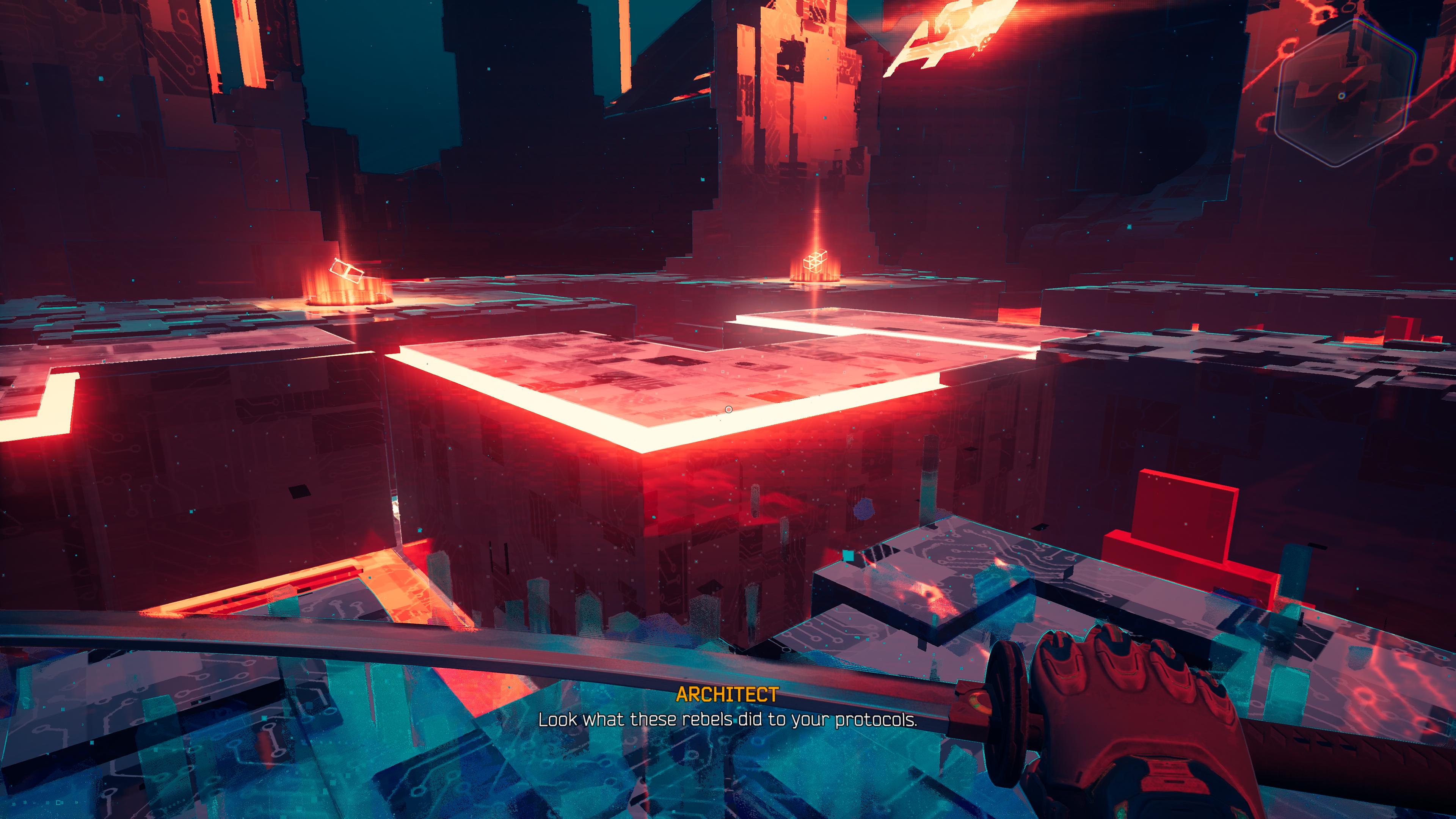 Cybervoid - miejsce, w którym przygotowujemy się do walki z żołnierzami Mary. Tutaj układamy Tetris 3D, co by ulepszyć jedną z zdolności Ghostrunnera