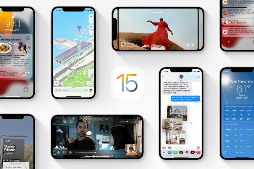 Apple iOS 15 logo