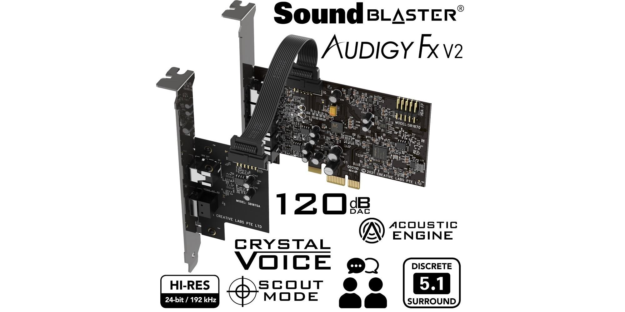 karta dźwiękowa Creative Sound Blaster Audigy Fx V2 DBPro