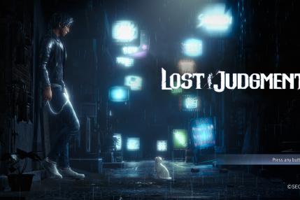 Ekran tytułowy Lost Judgment