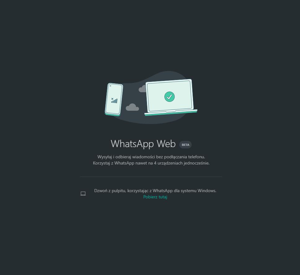 WhatsApp Web - obsługa wielu urządzeń
