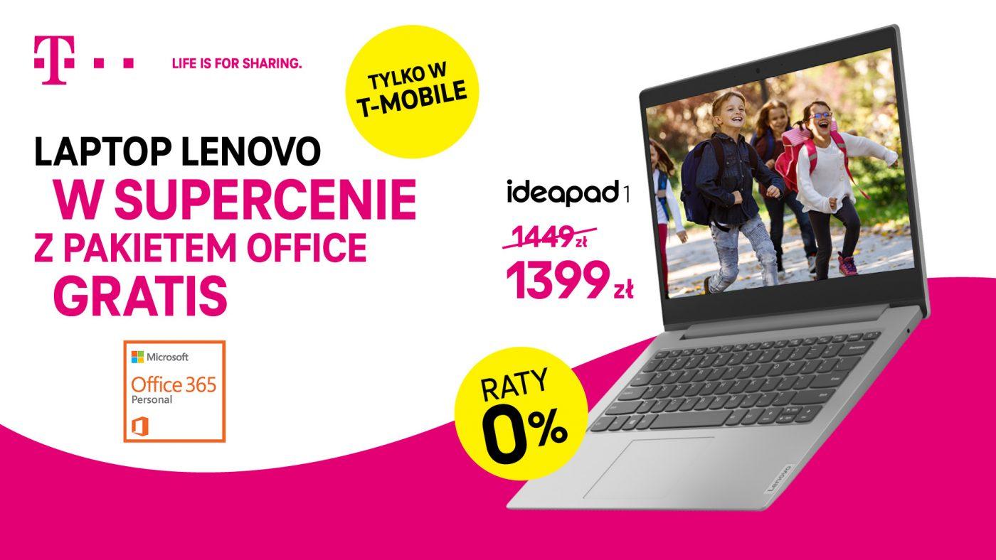T-Mobile promocja na laptop Lenovo IdeaPad 1