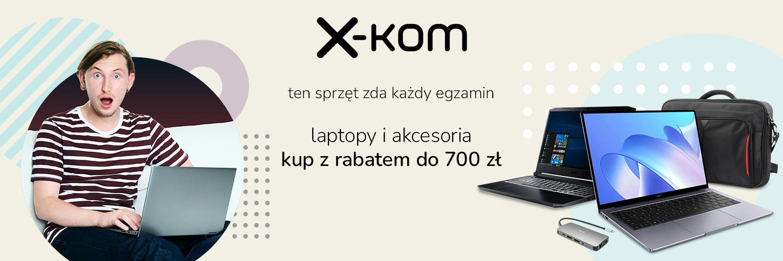 promocja x-kom laptopy taniej do 700 złotych
