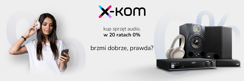 promocja x-kom raty 0 procent na sprzęt audio