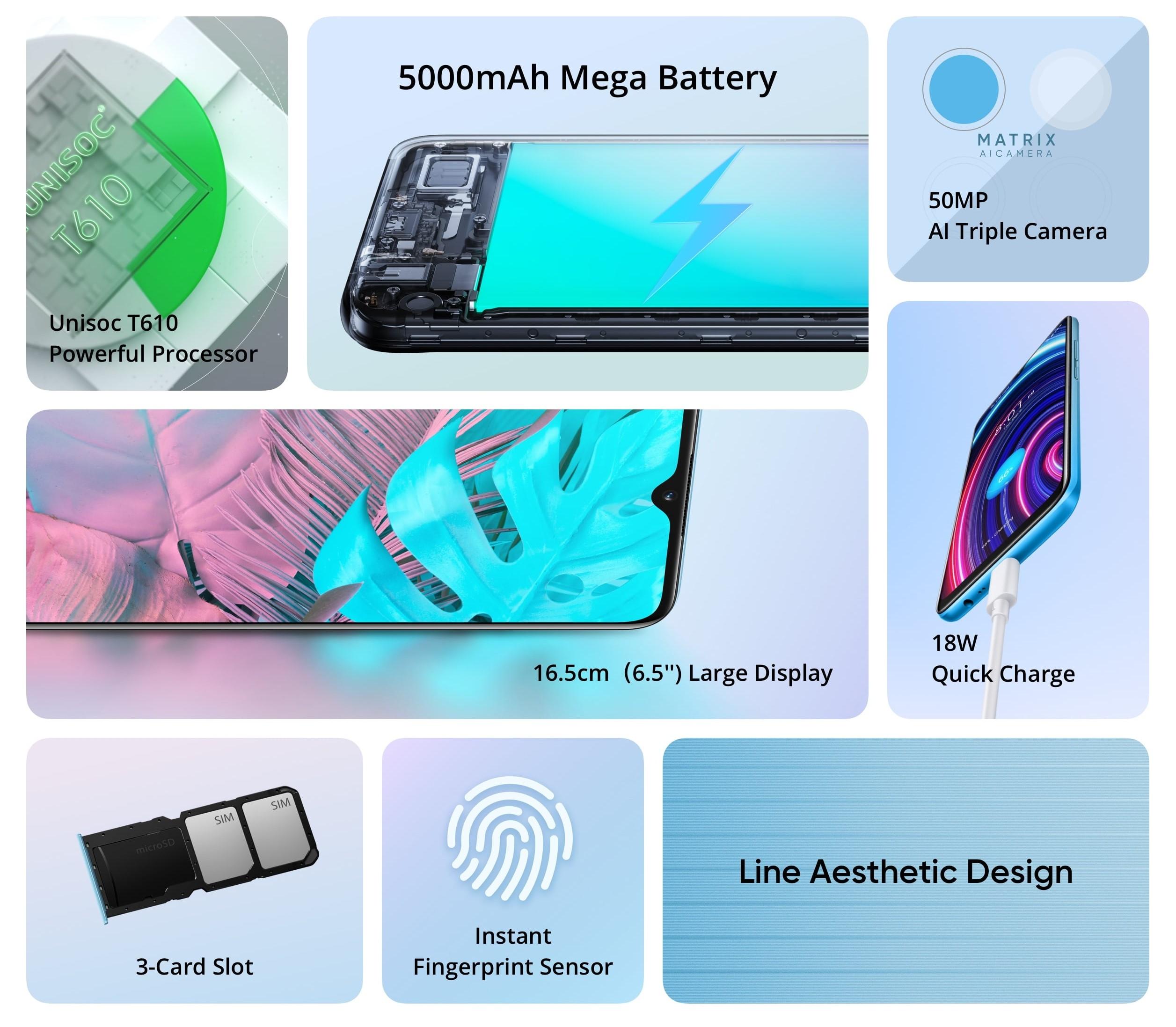 smartfon realme c25y smartphone specyfikacja specification