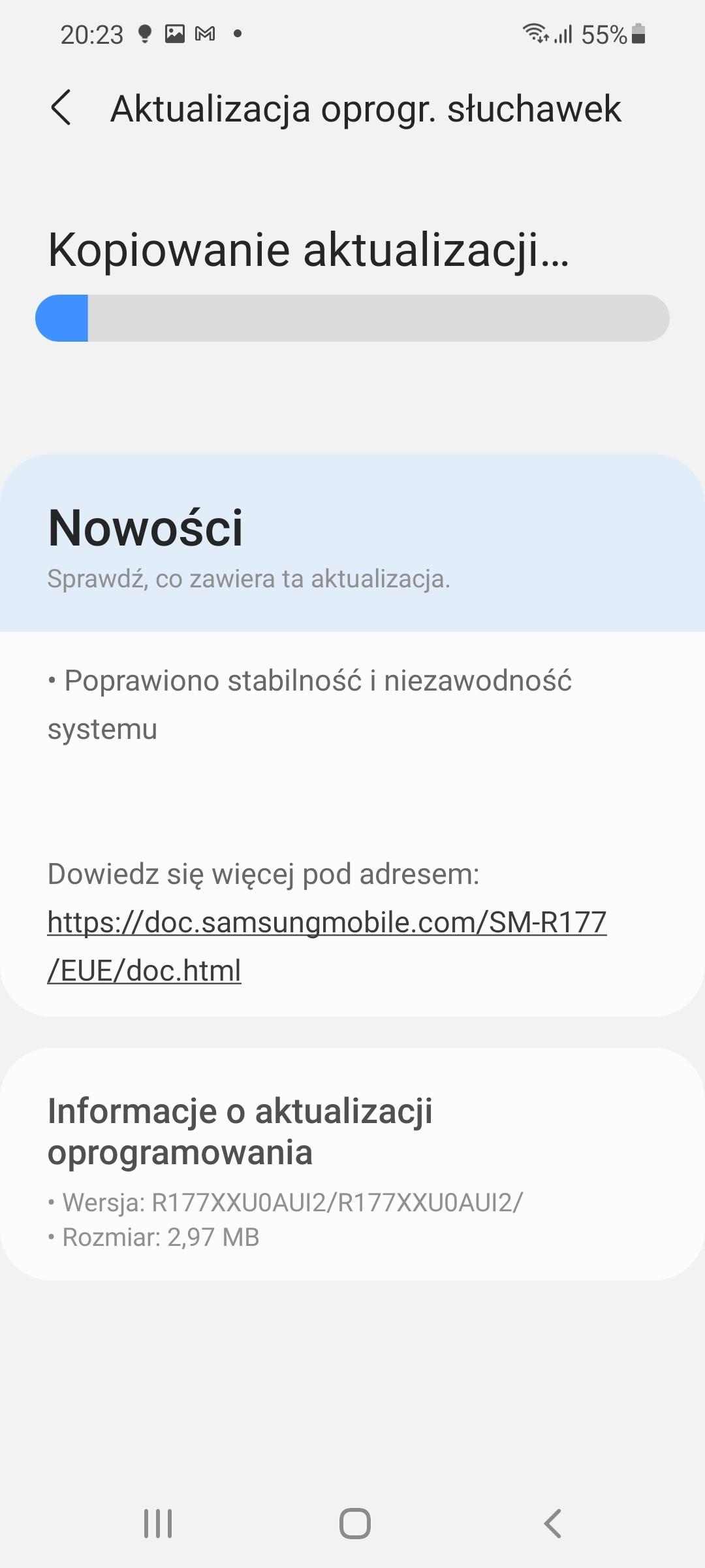 Recenzja Samsung Galaxy Buds2 - Aplikacja Galaxy Wearable (fot. Tabletowo.pl)