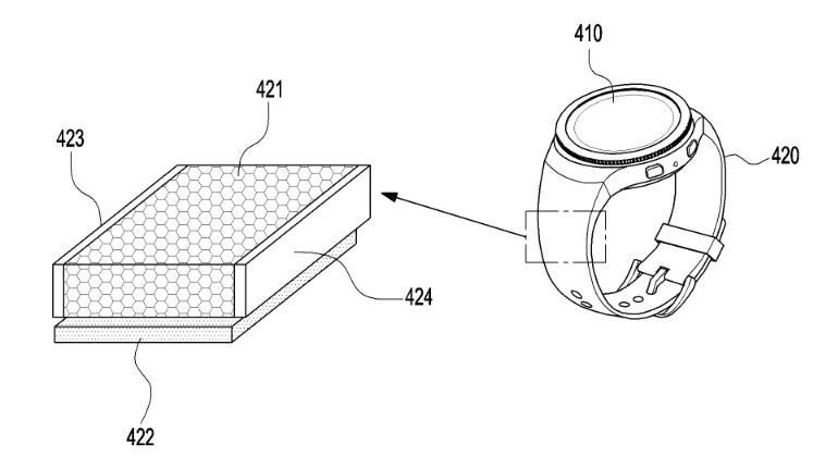 samsung galaxy watch ładowanie solarne patent solar charging