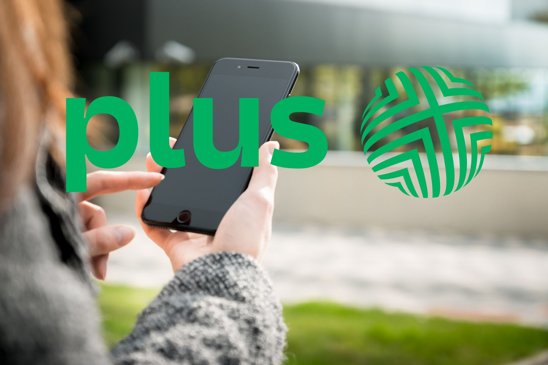 smartphone smartfon Apple iPhone Plus logo Plus na kartę