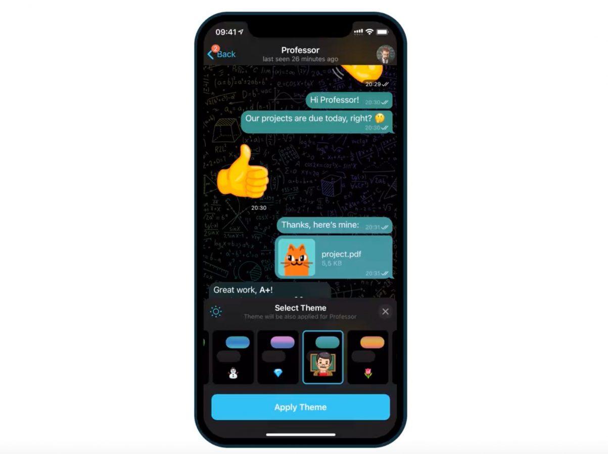 telegram aktualizacja