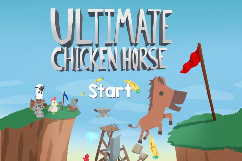 Ultimate Chicken Horse - ekran startowy