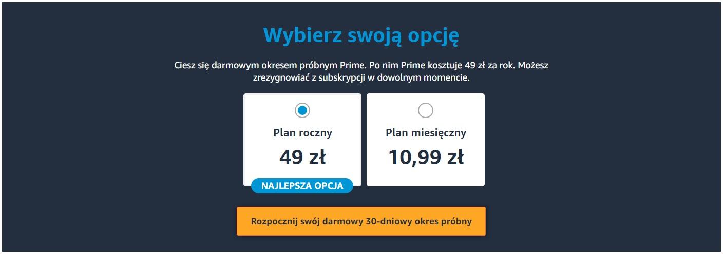 Amazon Prime Polska cena