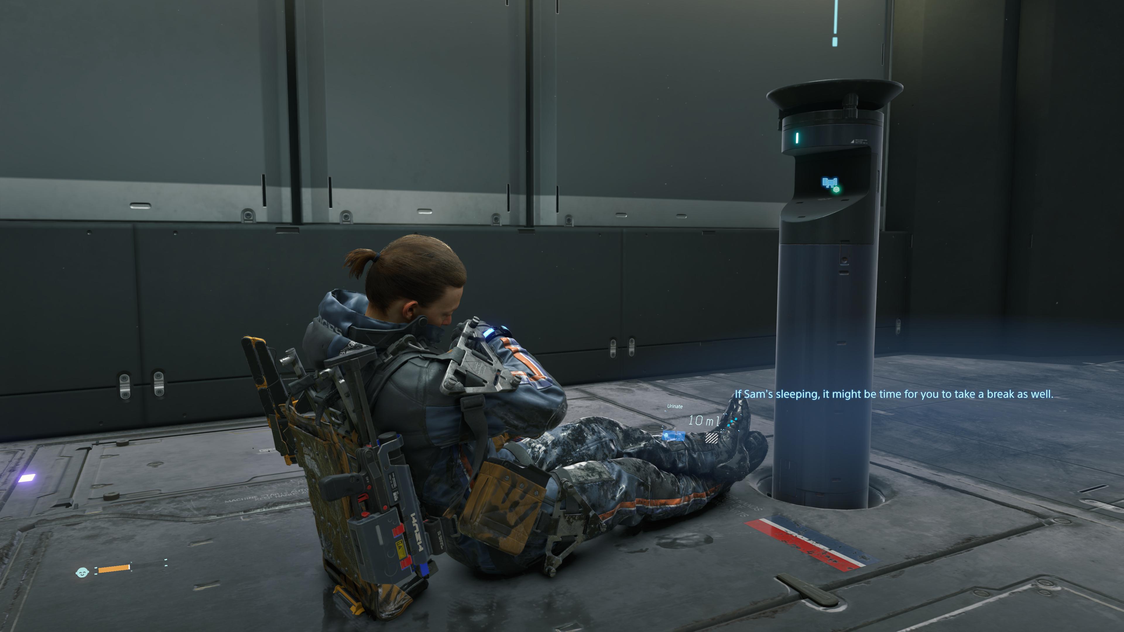 Po ciężkiej dostawie, Sam lubił zdrzemnąć się na podłodze