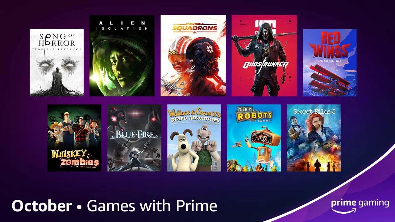 Amazon Prime Gaming - październik 2021