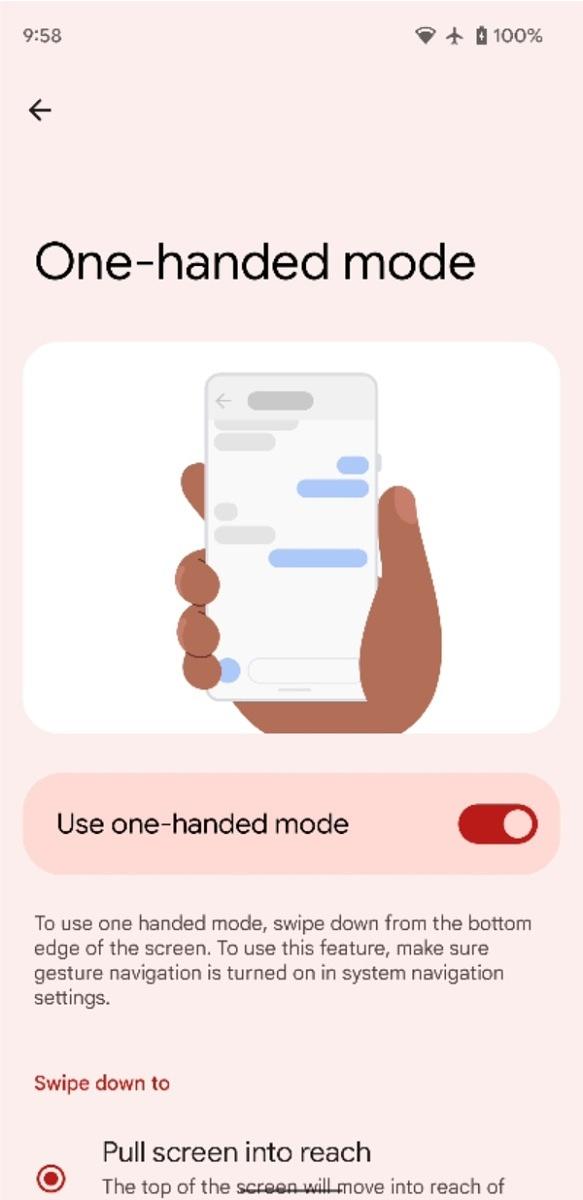 Android 12 tryb obsługi jedną ręką