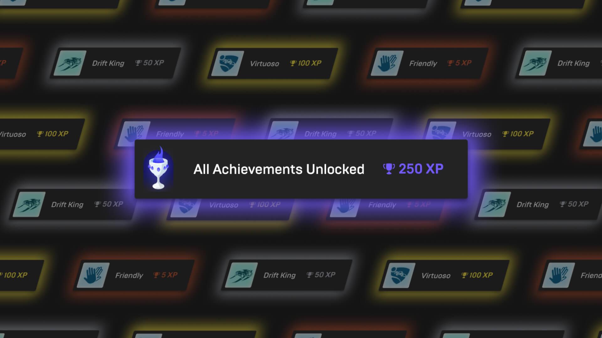 Grafika promująca osiągnięcia w Epic Games Store