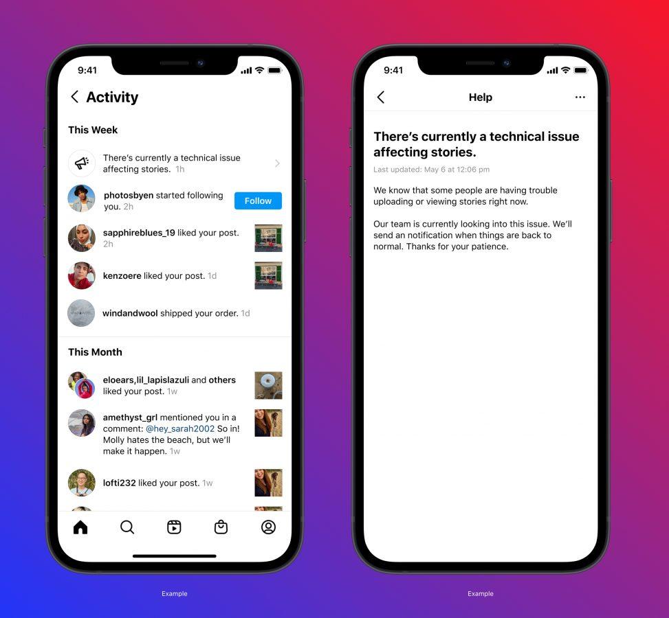 instagram activity feed notifications aktywność powiadomienia