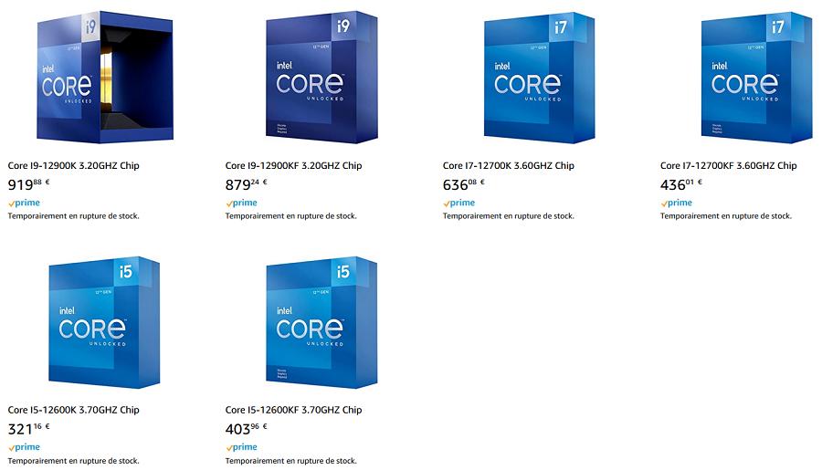 Intel Alder Lake ceny procesorów